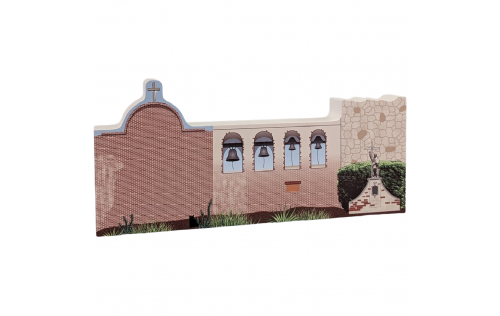 "Mission San Juan Capistrano, CA.Handcrafted in the USA 3/4"" thick wood by Cat's Meow Village."