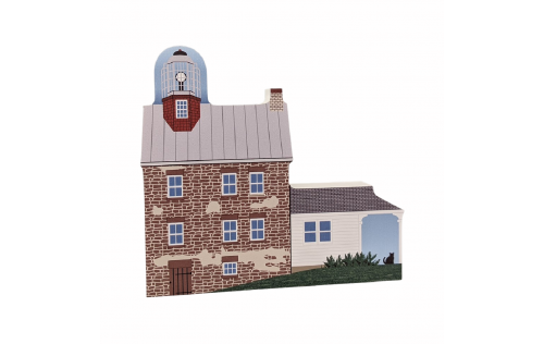 """Selkirk Lighthouse, Pulaski, New York. Handcrafted in the USA 3/4"""" thick wood by Cat's Meow Village."""