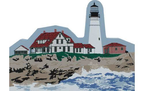 Portland Head Light, lighthouse, Cape Elizabeth Maine, Maine, nautical