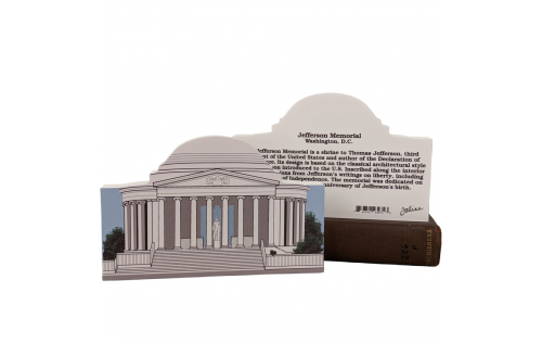 Front & Back of Jefferson Memorial, Natl Mall & Memorial Parks, Washington DC, handcrafted by Cat's Meow Village