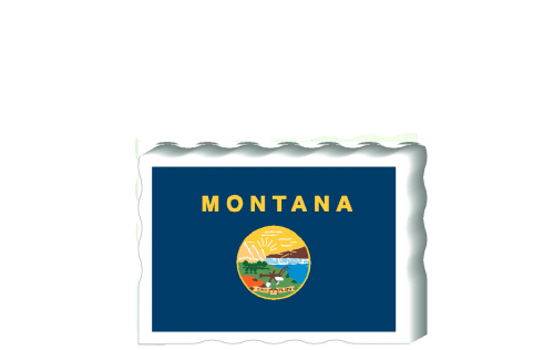Slightly larger than a deck of cards, this wooden postcard version of the Montana flag can fit into any nook around your home or workplace showing off your state pride! Handcrafted in the USA by The Cat's Meow Village.