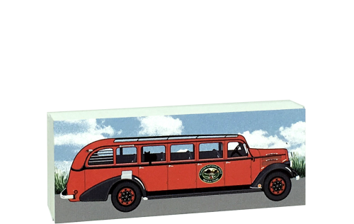 The Red Bus of Glacier, Front