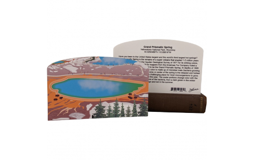 "Front & Back of Grand Prismatic Spring, Yellowstone Nat'l Park. Handcrafted in the USA 3/4"" thick wood by Cat's Meow Village."