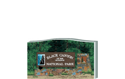 Black Canyon of the Gunnison, National Park Colorado, 2.5x4.25 Replica handcrafted by The Cat's Meow Village in the USA.