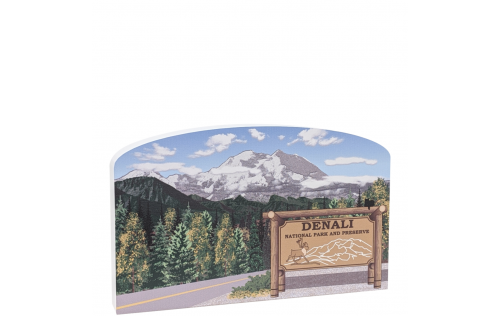 Place this Denali scene in a prominent spot in your home or office to remind you of that trip you took or wish to take there. Handcrafted in the USA by The Cat's Meow Village.