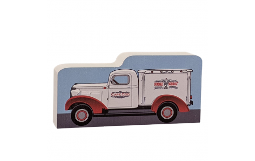 "An adorable piece to add to your Cape Cod Collection. Sundae School Ice Cream 1938 Chevy Truck, MA.  Handcrafted in the USA 3/4"" thick wood by Cat's Meow Village."