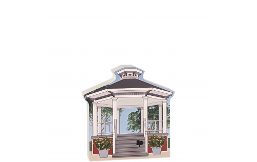 """Gazebo, Stars Hollow, Gilmore Girls. Handcrafted in the USA 3/4"""" thick wood by Cat's Meow Village."""