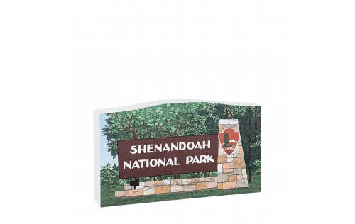Shenandoah National Park Sign, Virginia.  Handcrafted in the USA by Cat's Meow Village.