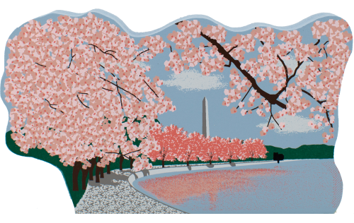 Cat's Meow handcrafted wooden keepsake of the Cherry Blossom Festive in Washington DC