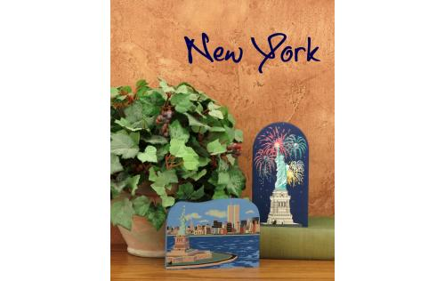 Decorate your home with a little wooden Village that reminds you of that trip to New York City. Handcrafted in wood by The Cat's Meow Village.