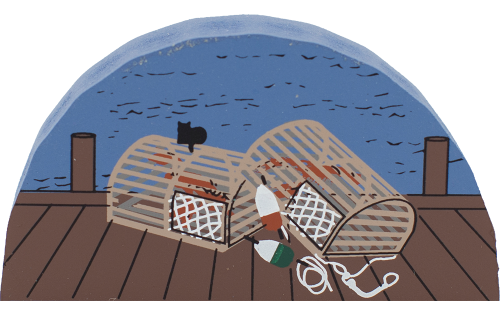 Lobster Pots, lobster, Maine, New England, fishing, nautical