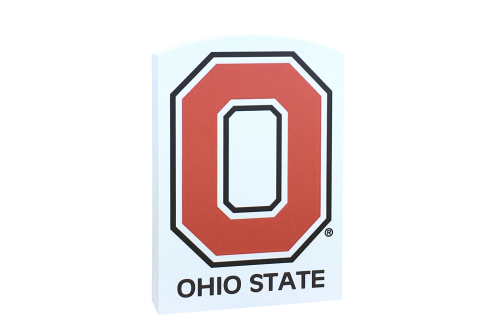 Add this Block O to your Ohio State collection! Handcrafted in Wooster, OH by The Cat's Meow Village.