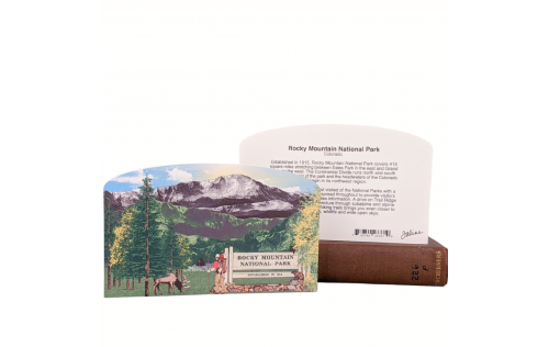 """Front & Back of our 3/4"""" thick wooden scene will remind you of the views your eyes soaked in. Add it to your home decor to remember that special trip. Handcrafted in the USA by The Cat's Meow Village."""