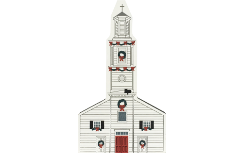 "Vintage St. John's Church from Colonial Virginia Christmas Series handcrafted from 3/4"" thick wood by The Cat's Meow Village in the USA"