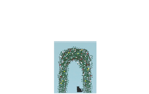 """Vintage Traditional Rose Arbour from Great Britain handcrafted from 3/4"""" thick wood by The Cat's Meow Village in the USA"""