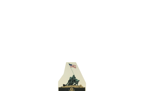 """Vintage U.S.M.C. War Memorial from Accessories handcrafted from 3/4"""" thick wood by The Cat's Meow Village in the USA"""