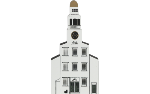 "Vintage Unitarian Church from Nantucket Series handcrafted from 3/4"" thick wood by The Cat's Meow Village in the USA"
