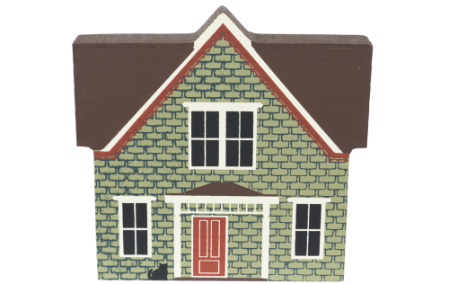 """Vintage Vandenberg House from Series IV handcrafted from 3/4"""" thick wood by The Cat's Meow Village in the USA"""
