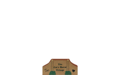 """Vintage Village Entrance Sign from Accessories handcrafted from 3/4"""" thick wood by The Cat's Meow Village in the USA"""