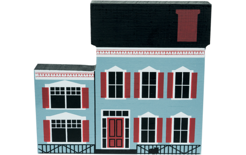 """Vintage Westbrook House from Series IV handcrafted from 3/4"""" thick wood by The Cat's Meow Village in the USA"""