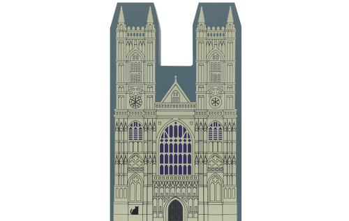 "Vintage Westminster Abbey from English Traveler Series handcrafted from 3/4"" thick wood by The Cat's Meow Village in the USA"