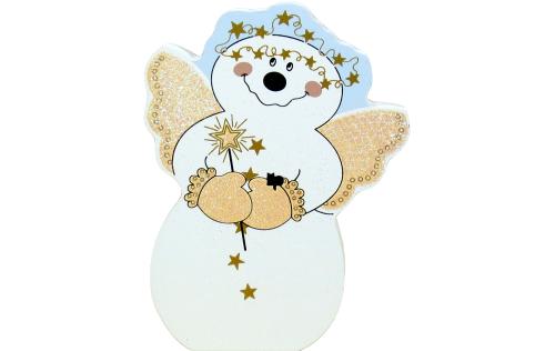 snowman, angel, Angelic Snowman