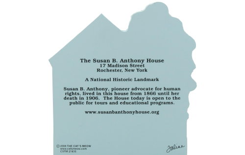 Back of the Susan B. Anthony House in Rochester, New York is A National Historic Landmark