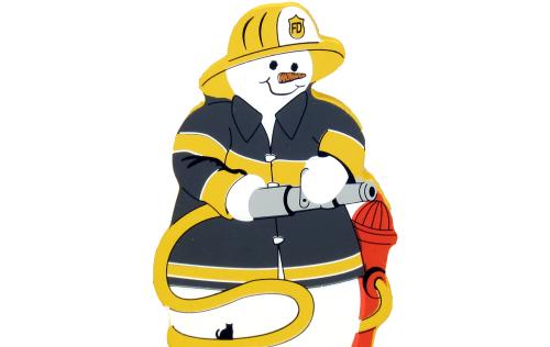 fireman, firefighter, rescue, snowman