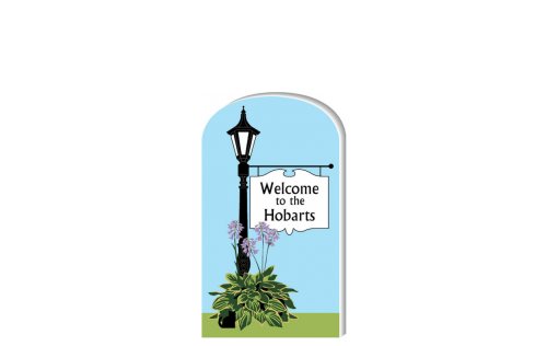 We can personalize this sign with your family name. Handcrafted in Wooster, Ohio by The Cat's Meow Village
