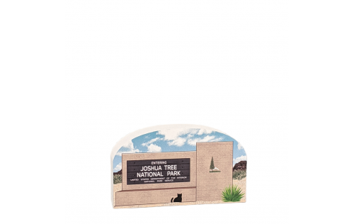 "Joshua Tree National Park Sign, Twentynine Palms, California. Handcrafted in the USA 3/4"" thick wood by Cat's Meow Village."
