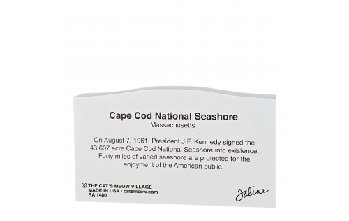 """Back of the Cape Cod National Seashore Sign handcrafted in 3/4"""" thick wood by The Cat's Meow Village in the USA."""