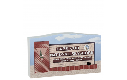 """Cape Cod National Seashore Sign handcrafted in 3/4"""" thick wood by The Cat's Meow Village in the USA."""