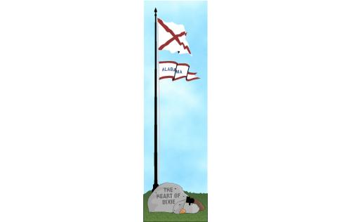 Cat's Meow State Flag representing Alabama