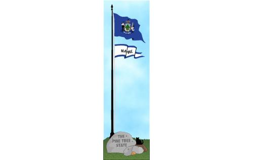 Cat's Meow State Flag representing Maine