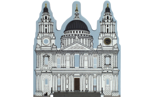 Wooden souvenir of St. Paul's Cathedral in London, England handcrafted by The Cat's Meow Village