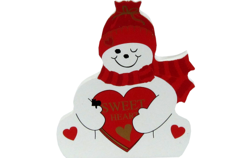 Sweetheart Snowman, Valentine's Day