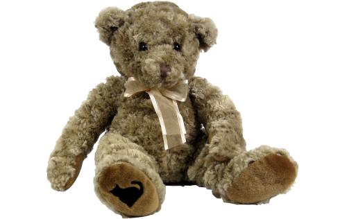 """plush, 12"""" teddy bear, Casper trademark, cuddly teddy bear"""