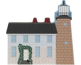 Wooden Cat's Meow Village keepsake of White Head Lighthouse
