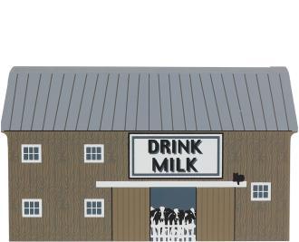 Adorable wooden Cat's Meow Village keepsake of the Drink Milk Barn