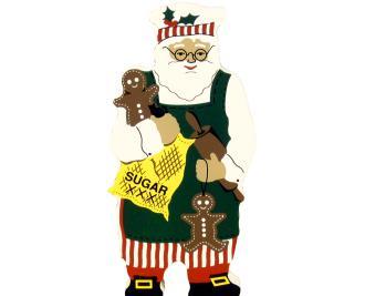 gingerbread, santa, baking, cookie maker