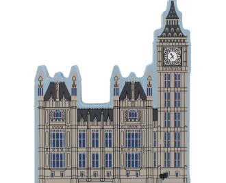 Cat's Meow handcrafted wooden souvenir of the Houses of Parliament & Big Ben, London, England