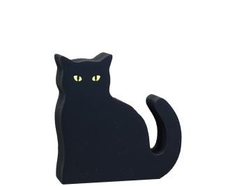 Get your hands on, Casper, our black cat mascot, with glowing eyes. Handcrafted in the USA by The Cat's Meow Village.
