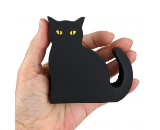 Get your paws on, Casper, our black cat mascot, with glowing eyes. Handcrafted in the USA by The Cat's Meow Village.