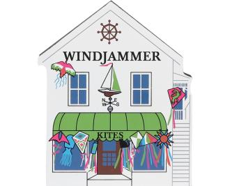 Bring the beach home with a Cat's Meow handcrafted wooden miniature of Windjammer Kites
