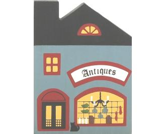 "Vintage Antique Shop from Series I handcrafted from 3/4"" thick wood by The Cat's Meow Village in the USA"