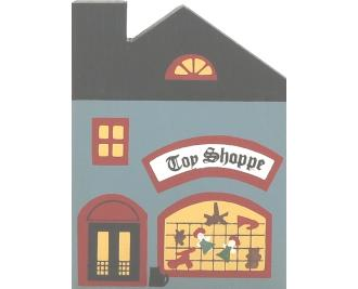 "Vintage Toy Shoppe from Series I handcrafted from 3/4"" thick wood by The Cat's Meow Village in the USA"