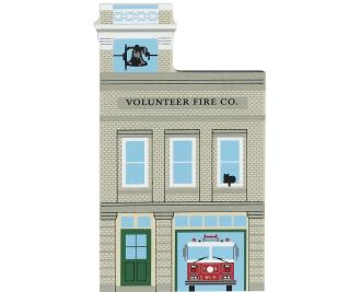 Wooden Cat's Meow Village collectible of Volunteer Fire Department