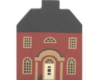 "Vintage Grandinere House from Series II handcrafted from 3/4"" thick wood by The Cat's Meow Village in the USA"