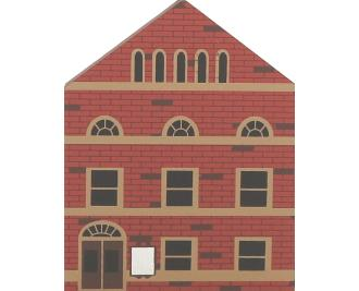 "Vintage Opera House from Series III handcrafted from 3/4"" thick wood by The Cat's Meow Village in the USA"