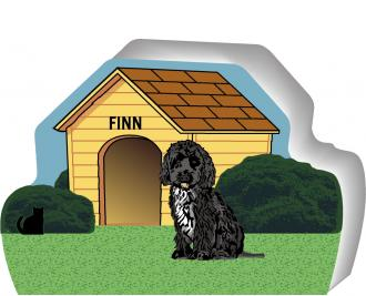 Personalize this cute little wooden dog house of a Tibetan Terrier with your dogs name. By The Cat's Meow Village, handcrafted in the USA.